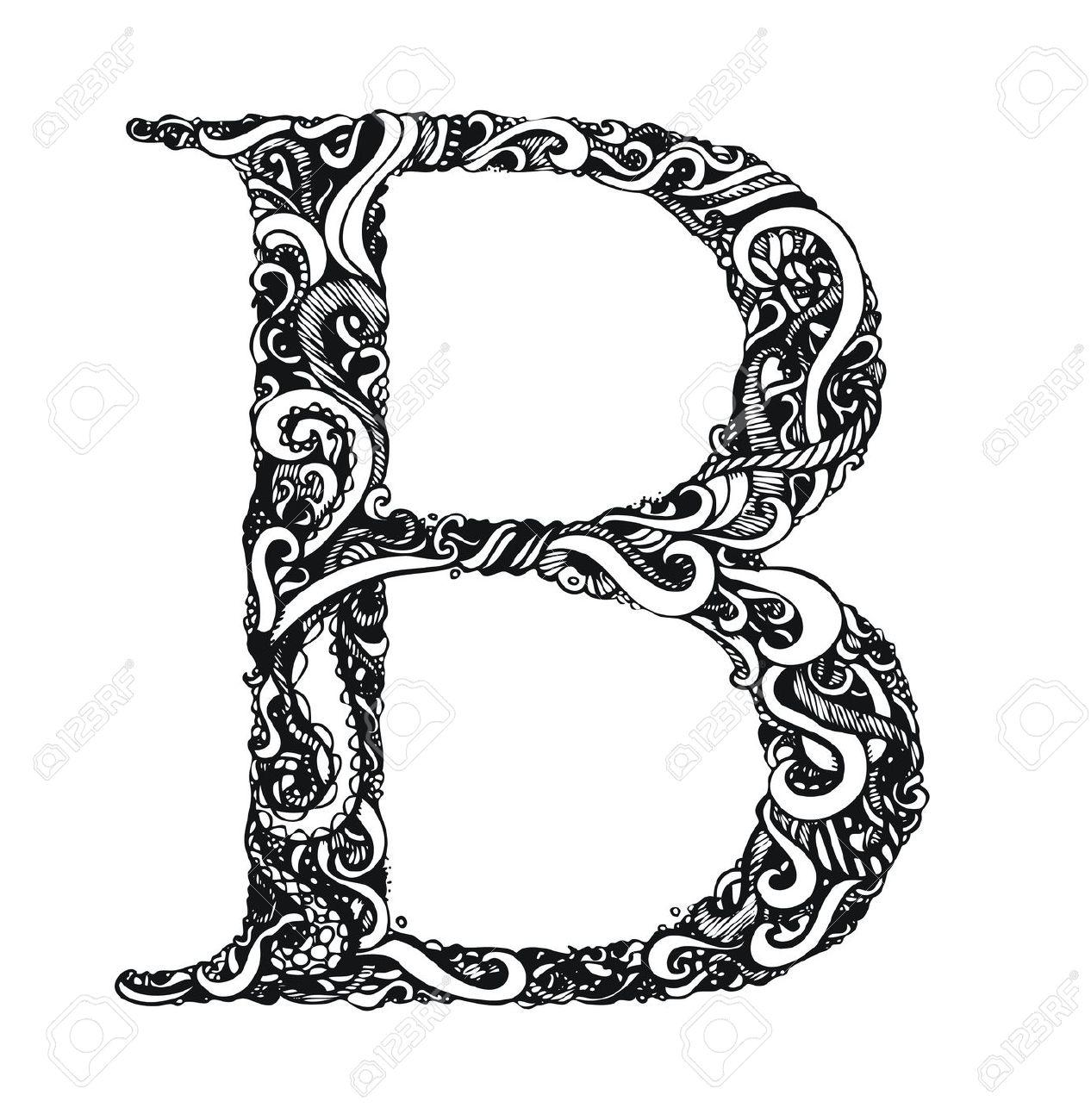 Letter b clipart free caligraphy banner black and white Letter b clipart free calligraphy - ClipartFest banner black and white