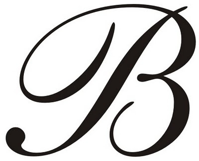 Letter b clipart free caligraphy