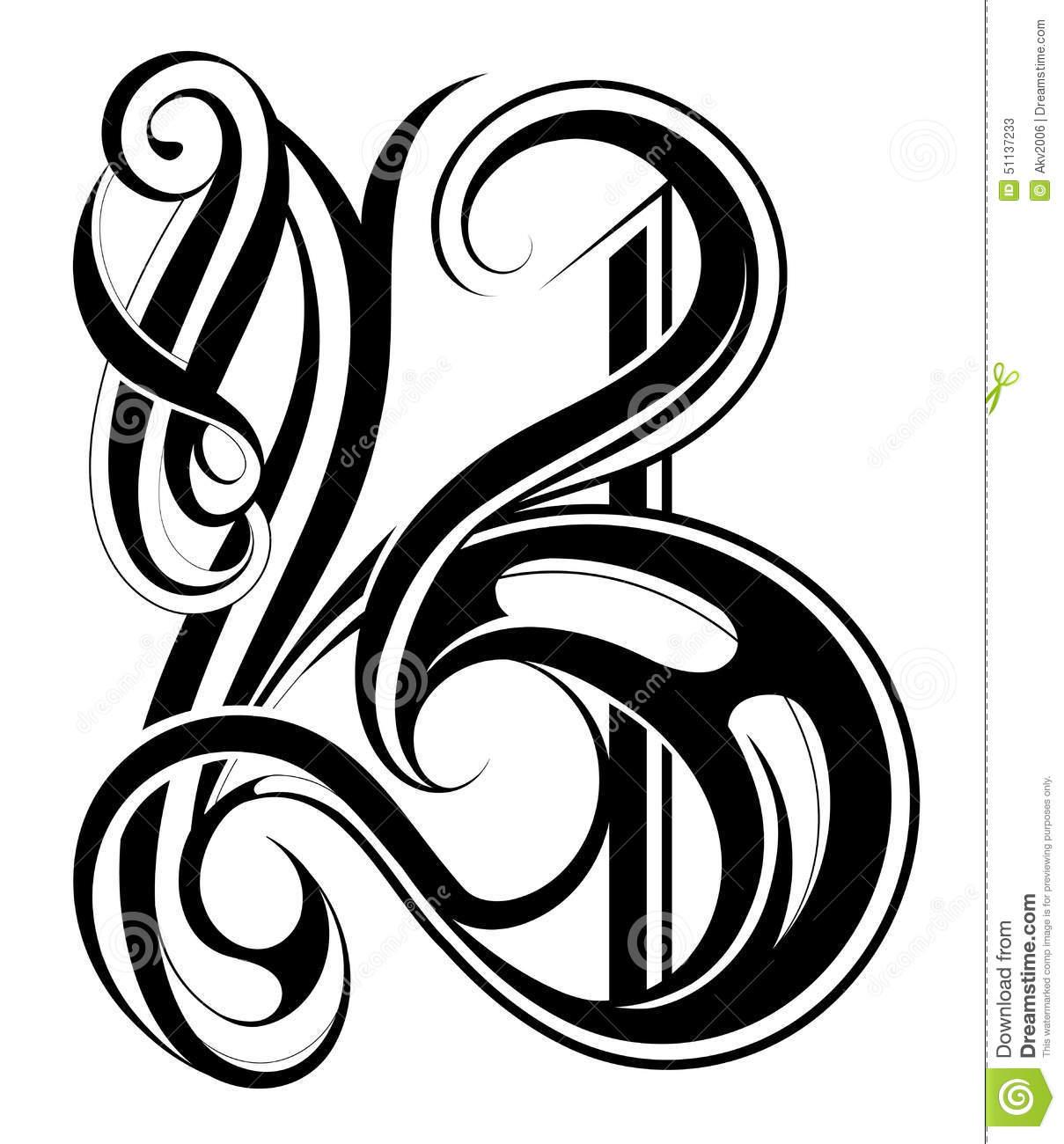 Letter b clipart free calligraphy svg transparent Calligraphic Letter B Stock Vector - Image: 51137233 svg transparent