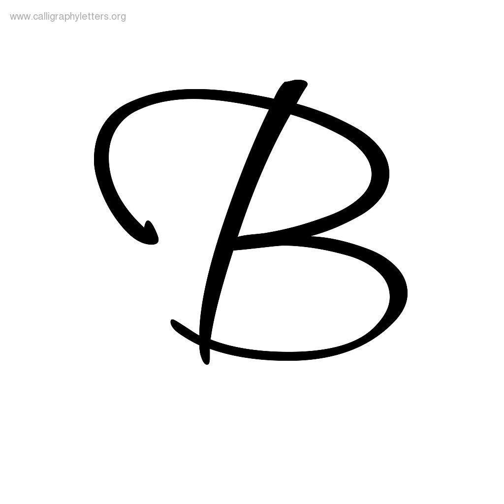 Letter b clipart free calligraphy graphic stock Calligraphic Letter B - ClipArt Best graphic stock