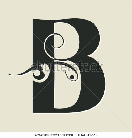 Letter b clipart free calligraphy svg freeuse library Calligraphic Letters Stock Images, Royalty-Free Images & Vectors ... svg freeuse library