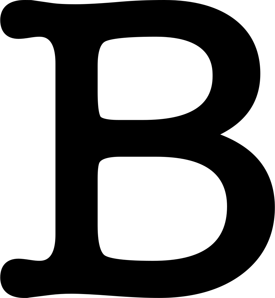 Letter b outline clipart free graphic black and white stock Letter B Symbol Svg Png Icon Free Download (#27416) - OnlineWebFonts.COM graphic black and white stock