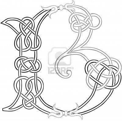 Letter b clipart outline graphic freeuse stock A Celtic Knot-work Capital Letter B Stylized Outline | Celtic ... graphic freeuse stock
