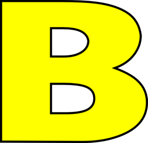 Letter b clipart outline royalty free Yellow B Dark Outline Clip Art at Clker.com - vector clip art ... royalty free