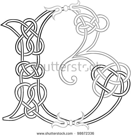 Letter b outline clipart vector freeuse stock Celtic Letters Stock Images, Royalty-Free Images & Vectors ... vector freeuse stock