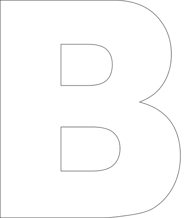 Letter b outline clipart clip art black and white stock 17 Best images about letters/cijfers on Pinterest | Stamping ... clip art black and white stock