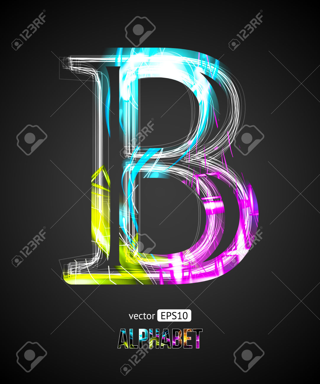 Letter b outline clipart vector library library Letter B Images & Stock Pictures. Royalty Free Letter B Photos And ... vector library library