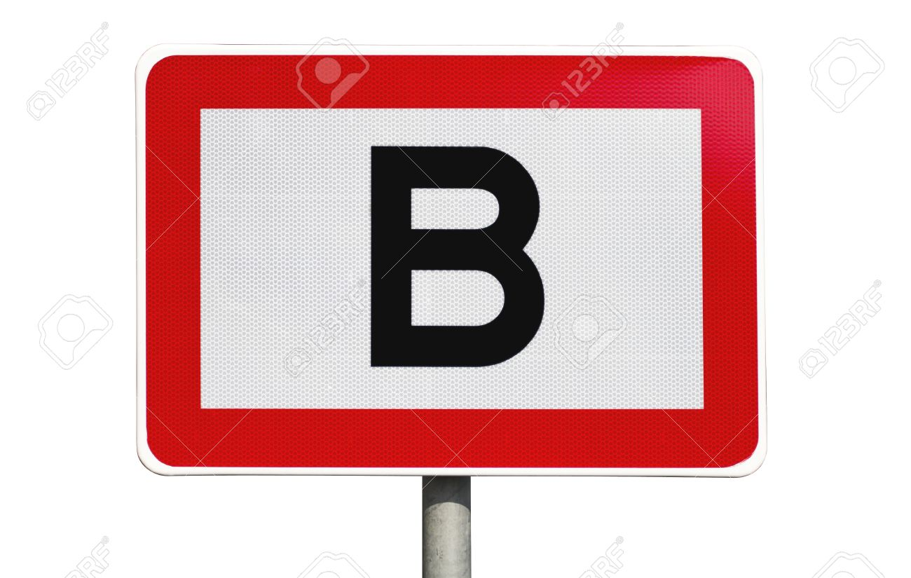 Letter b road clipart banner library download Public Road Sign In Red And White With A Capitol Letter B In ... banner library download