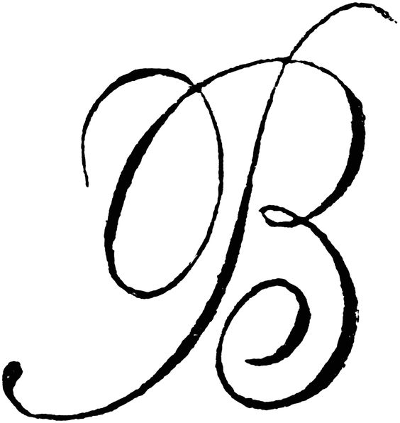 Letter b road clipart jpg library download The Letter B In Cursive - maybe paint this above the fireplace, or ... jpg library download