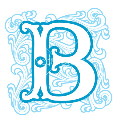 Letter b winter clipart vector black and white stock Winter vintage letter b vector by print2d - Image #1739226 ... vector black and white stock