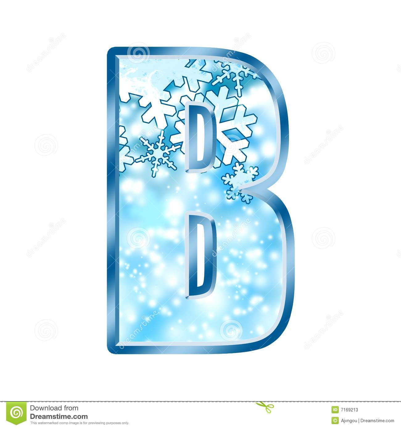 Letter b winter clipart clip library stock Winter Alphabet Number B Stock Photos - Image: 7169213 clip library stock