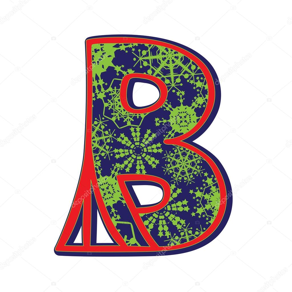 Letter b winter clipart clip royalty free stock Winter letter B — Stock Photo © richcat #37878637 clip royalty free stock