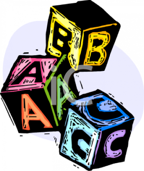 Letter block clipart banner library Letter Blocks - Royalty Free Clipart Image banner library