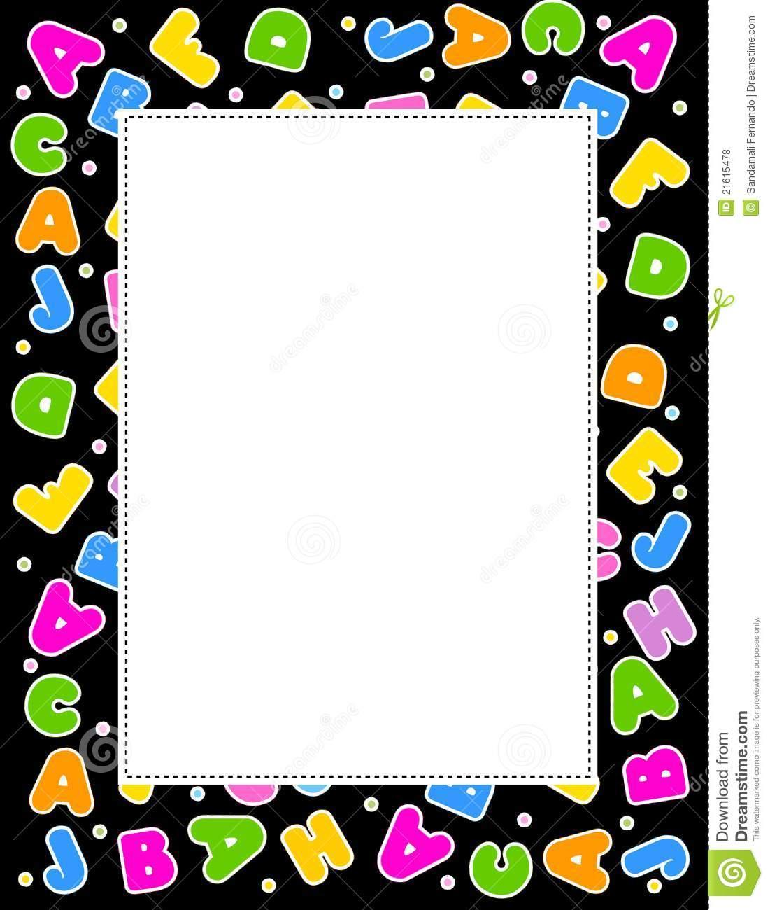 Letter clipart abc border vector transparent Abc Border Clipart - Clipart Kid vector transparent