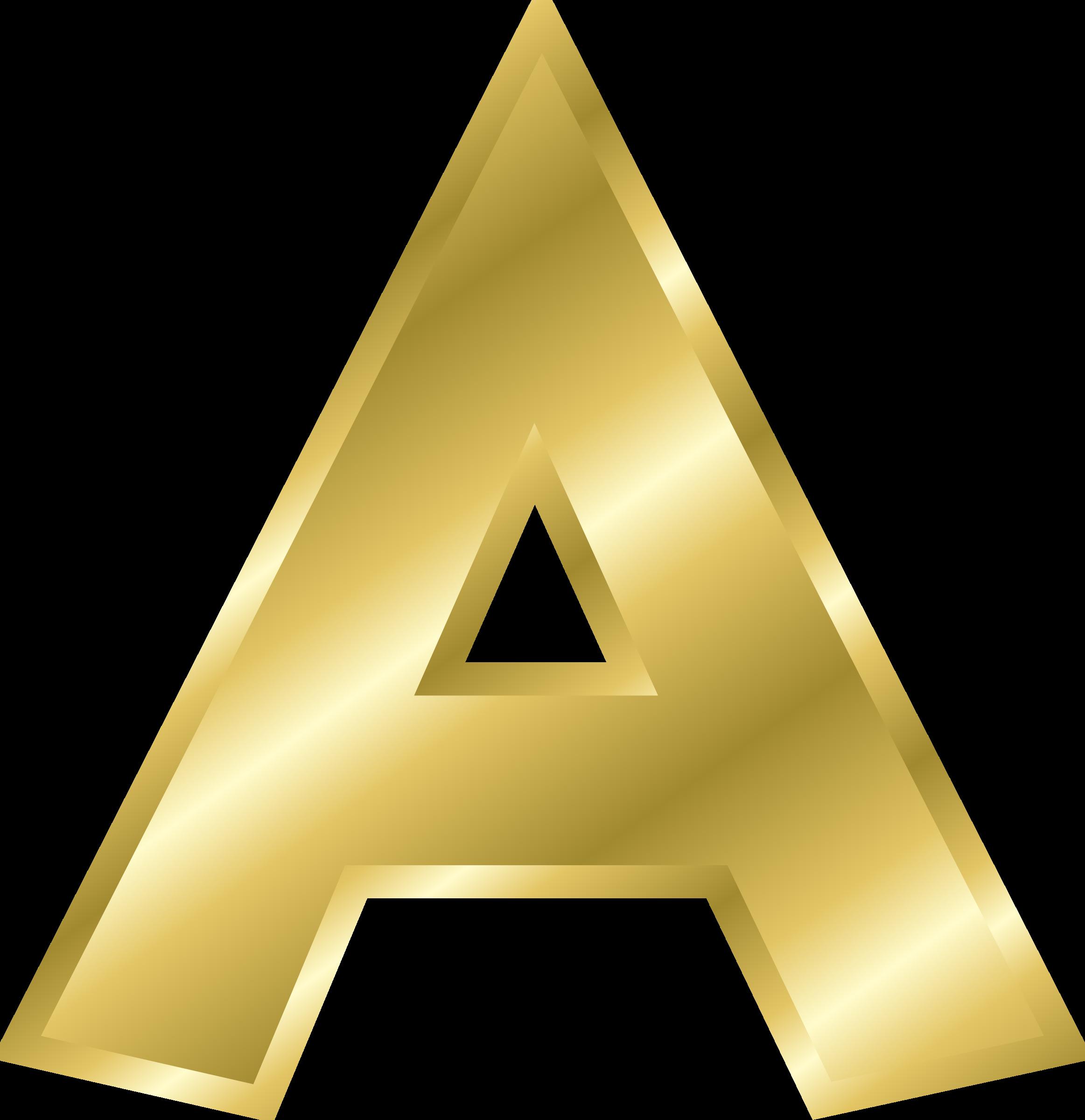 Letter clipart alphabet banner transparent stock Clipart - Effect Letters alphabet gold banner transparent stock