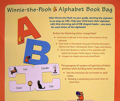 Letter clipart alphabet book bag clip library download FIRST WINNIE THE POOH ALPHABET BOOK BAG 26 Letter Books NEW clip library download