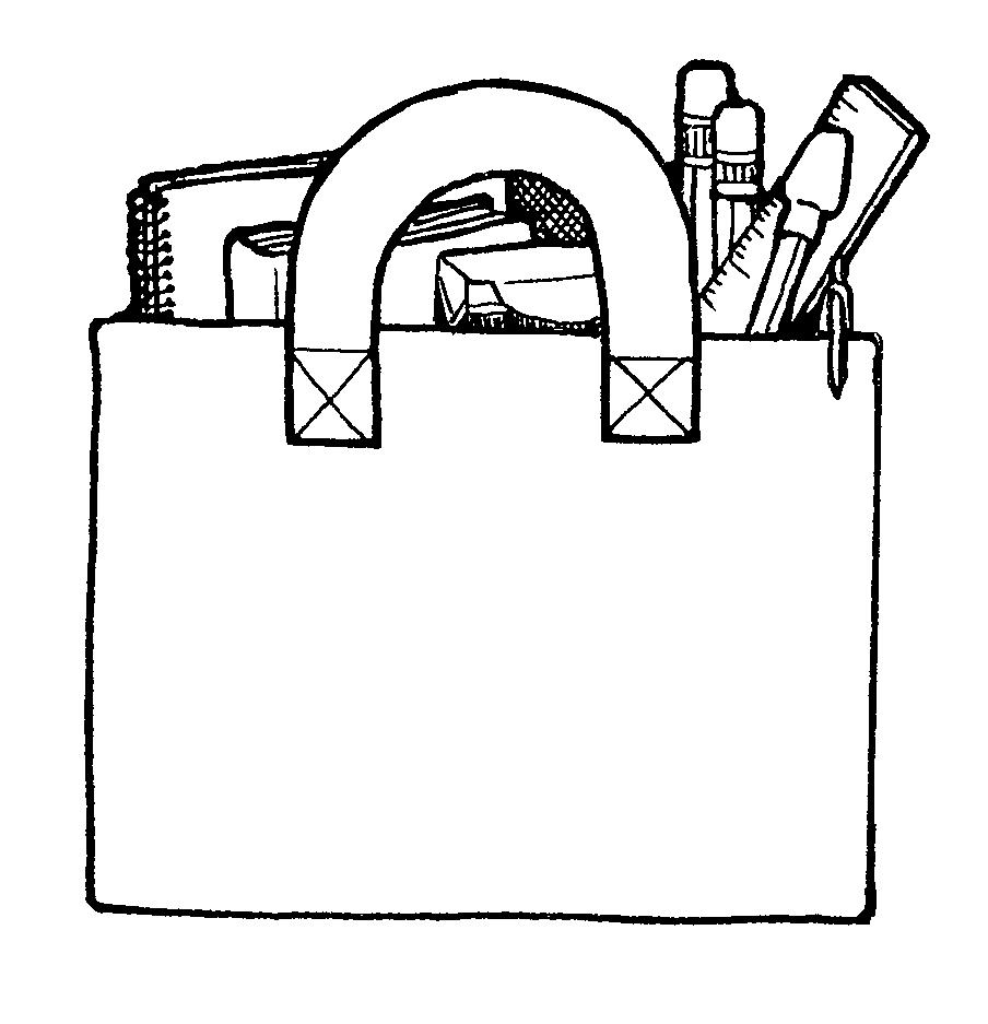 Letter clipart alphabet book bag clip art black and white Book bag clip art - ClipartFox clip art black and white