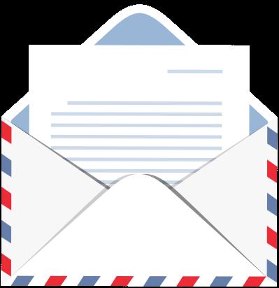 Letter clipart transparent image transparent library Envelope with Letter Transparent PNG Clip Art Image - DLPNG.com image transparent library