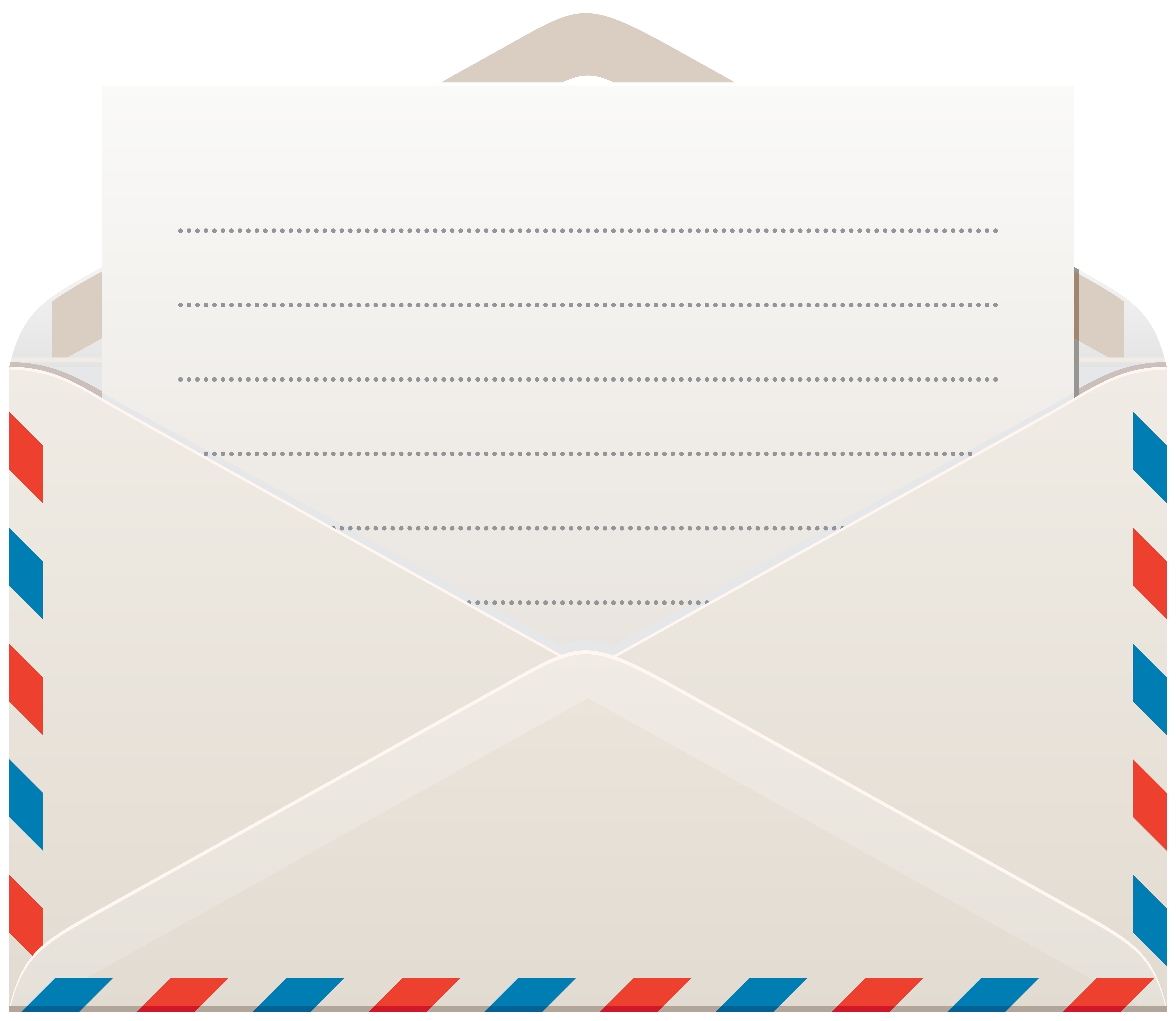 Letter clipart transparent vector library download Envelope with Letter PNG Clip Art | Gallery Yopriceville - High ... vector library download