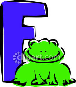 Letter f frog clipart clip art freeuse download Cartoon Frog Letter F - Royalty Free Clipart Picture clip art freeuse download