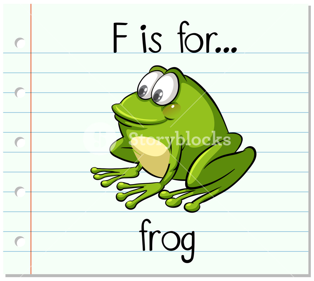 Letter f frog clipart jpg black and white library Flashcard letter F is for frog Royalty-Free Stock Image ... jpg black and white library