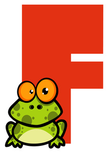 Letter f frog clipart royalty free stock Free Alphabet Clipart Image 0521-1101-1517-3309   Frog Clipart royalty free stock