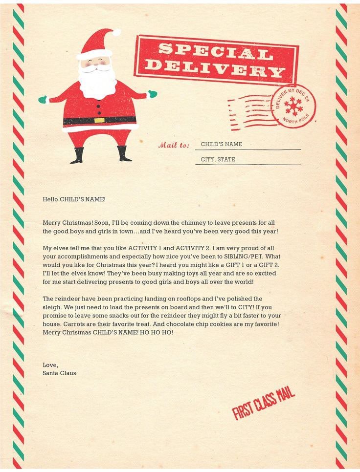 Letter from santa clipart vector transparent library 17 Best ideas about Santa Letter Template on Pinterest | Santa ... vector transparent library