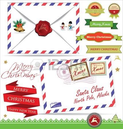 Letter from santa clipart jpg black and white stock 5,669 Letter From Santa Stock Illustrations, Cliparts And Royalty ... jpg black and white stock