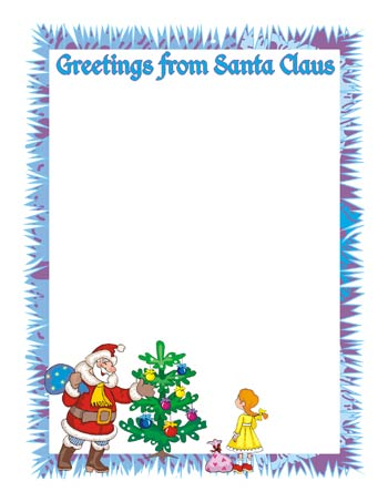 Letter from santa clipart image black and white library 1000+ images about Letters from Santa on Pinterest | Birthday ... image black and white library