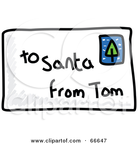 Letter from santa clipart clip freeuse stock Royalty-Free (RF) Clipart Illustration of a Sketched Letter To ... clip freeuse stock