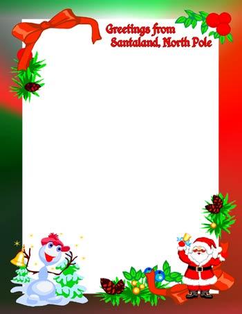 Letter from santa clipart jpg freeuse stock Santa letterhead clipart - ClipartFest jpg freeuse stock