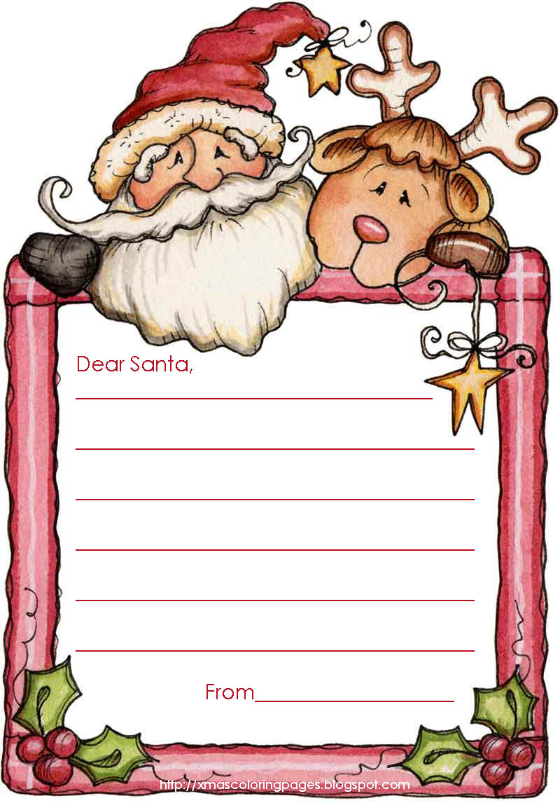Letter from santa clipart png transparent from coloring pages post letter to santa claus. dear santa ... png transparent