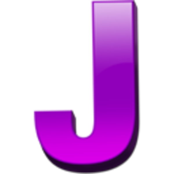Letter j with crown clipart png black and white stock Letter J Icon 1 | Free Images at Clker.com - vector clip art online ... png black and white stock