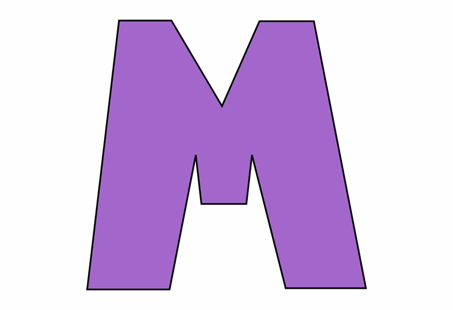 Letter m clipart svg royalty free Capital Cliparts - Purple Letter M Free PNG Images & Clipart ... svg royalty free