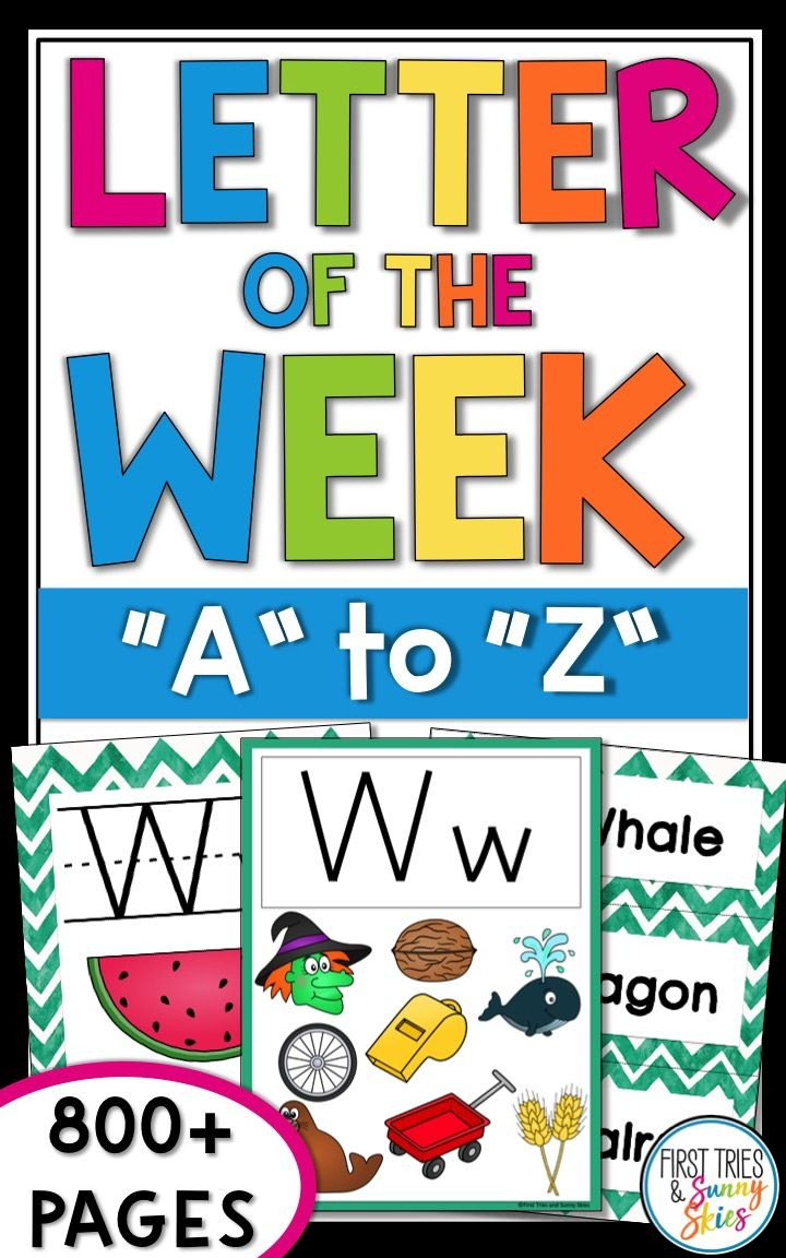 Letter of the week clipart banner black and white Letter of the Week A-Z - Letter of the Day | Future Teacher at Heart ... banner black and white