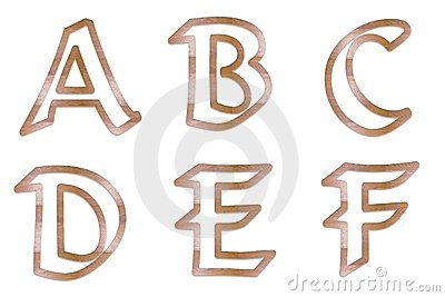 Letter outline clipart 1 black and white Capital Letters Wood Outline 1 Royalty Free Stock Photos - Image ... black and white
