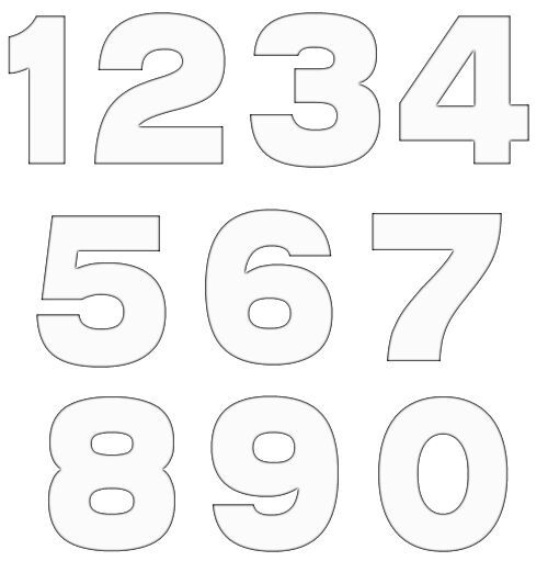 Letter outline clipart 1 svg freeuse 20 Free Various Number Template | DIY & Crafts : Free Pattern ... svg freeuse