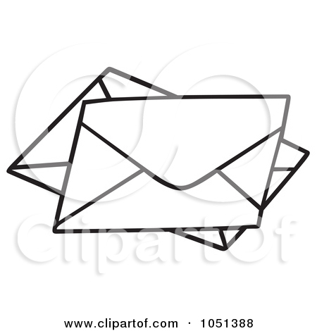Letter outline clipart 1 banner black and white Royalty Free Letter Illustrations by dero Page 1 banner black and white
