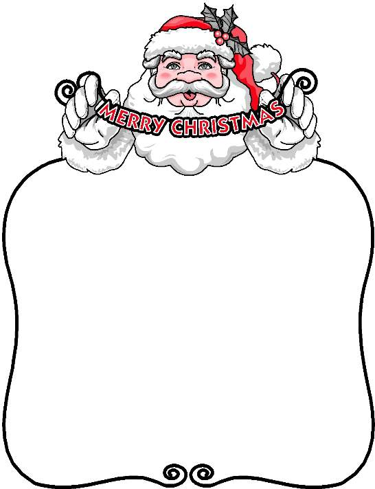 Letter outline clipart 1 vector royalty free Santa Template Printable. free printable letters from santa claus ... vector royalty free