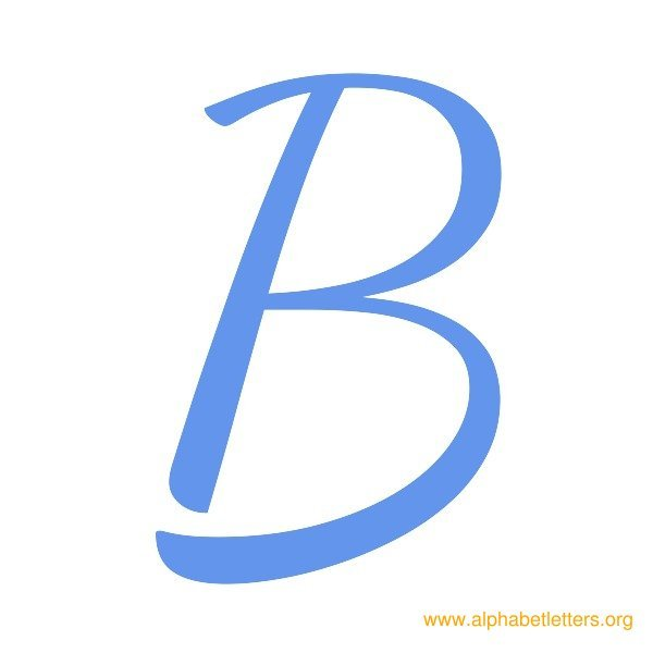 Letter outline clipart b picture transparent stock B Blue Alphabet Letters Clipart picture transparent stock