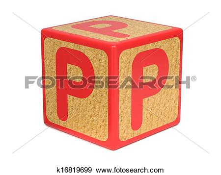 Letter p in building blocks clipart banner royalty free download Stock Illustration of Letter P on Childrens Alphabet Block ... banner royalty free download
