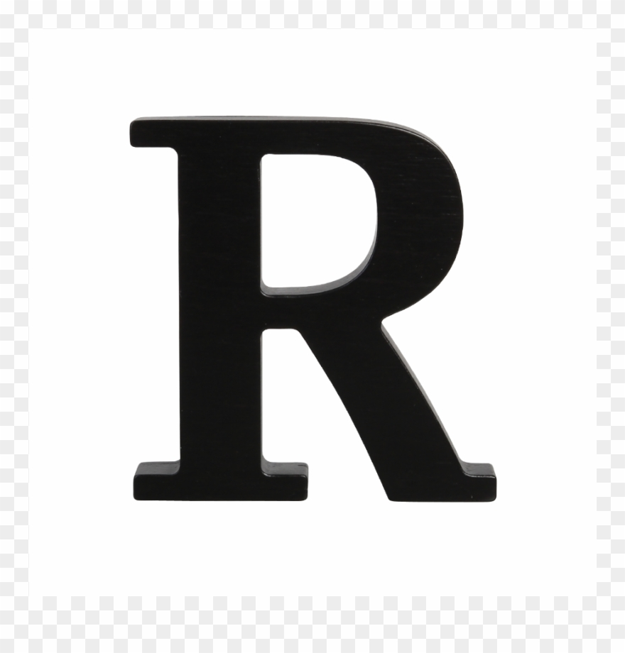 Letter r clipart black and white vector transparent download Wooden Letter R Black Looking For You Clip Art Annoying ... vector transparent download