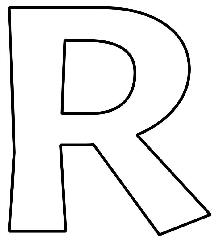 Letter r clipart black and white vector free FREE Printable Bubble Letters Alphabet | sewing | Bubble ... vector free
