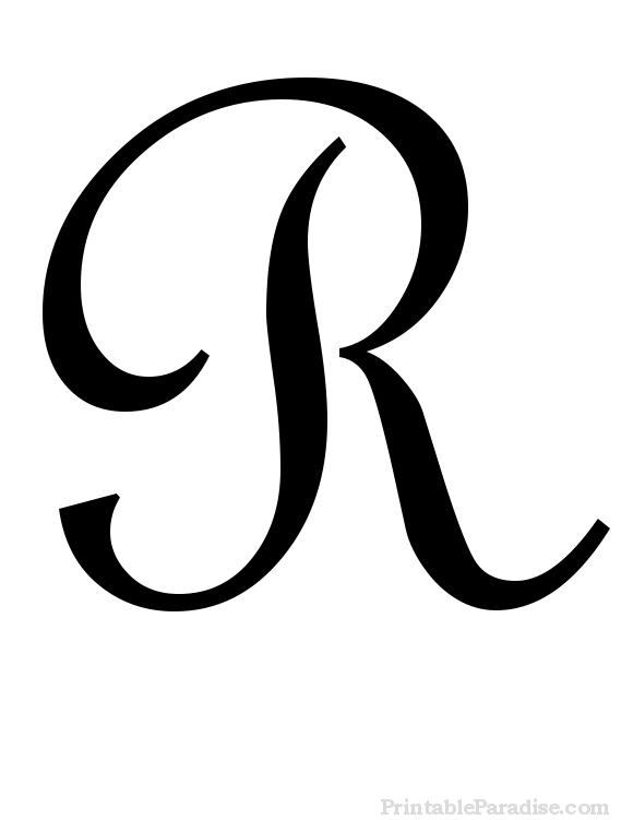 Letter r clipart calligraphy clip free download Printable Cursive Letter R - Print Letter R in Cursive ... clip free download