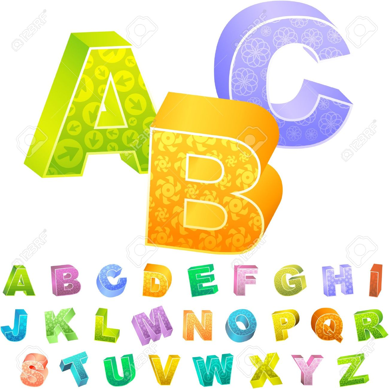 Letter s clipart colored clip transparent stock Colored 3d Alphabet. Royalty Free Cliparts, Vectors, And Stock ... clip transparent stock