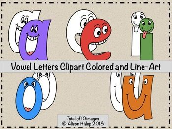 Letter s clipart colored vector free download Vowel Letters Clipart - Talking Letters | Popular, Clip art and Art vector free download