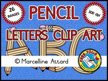 Letter s clipart pencil image freeuse stock Back to school clipart: pencil alphabet clipart: upper case ... image freeuse stock