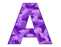 Letter s clipart purple royalty free library PURPLE CAMO LETTER Decals Personalized Name Camoflauge Girls Room ... royalty free library