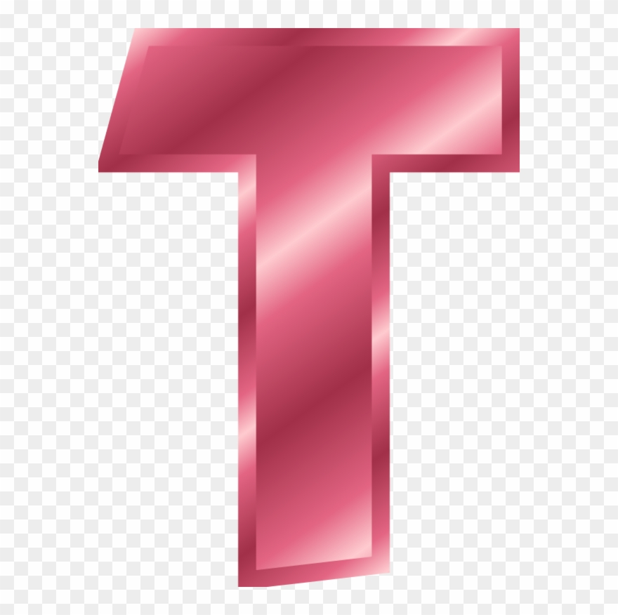 Letter t clipart vector library stock Alphabet Letter T - Letter T Color Pink Clipart (#166304 ... vector library stock