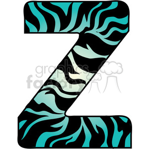 Letter z clipart banner free library Letter Z Zebra Fur clipart. Royalty-free clipart # 388614 banner free library